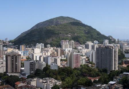 marta: Aerial view of Rio de Janeiro Botafofo district from the Santa Marta slum