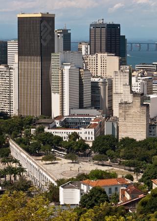 buisiness: Skyline of Downtown Rio de Janeiro, Brazil Stock Photo