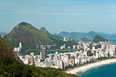 Aerial View of Ipanema and Leblon Beaches, Rio de Janeiro, Brazil