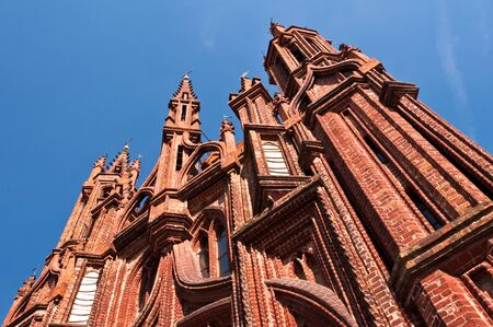 francis: Beautiful Gothic Style St. Anne Church in Vilnius, Lithuania