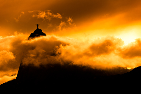 The famous Rio de Janeiro landmark - Christ the Redeemer statue on Corcovado mountain