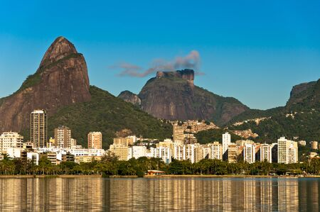 Beautiful view of Rio de Janeiro with the Lake and Mountains, Leblon and Ipanema District