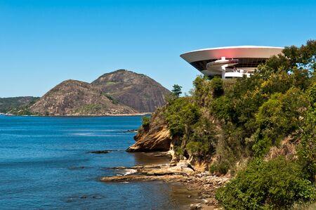 Futuristic Round Building on the Cliff Editorial
