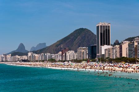 View of Copacabana Beach and Mountains in the Horizon, Rio de Janeiro