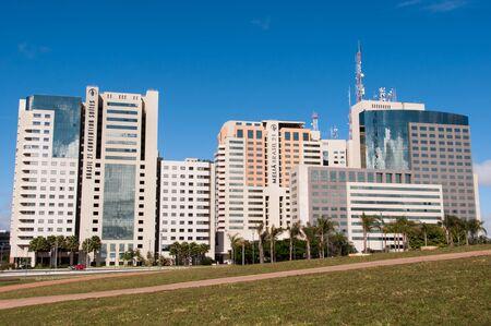 Brasilia, Brazil - June 6, 2015: Southern Hotel Sector of Brasilia. Example of modern urban planning by Oscar Niemeyer and Lucio Costa.