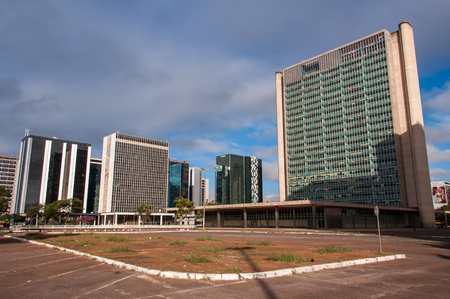Brasilia, Brazil - June 6, 2015: Buildings of South Banking Sector. All the buildings of the complex are own by national banks of Brazil. Editorial