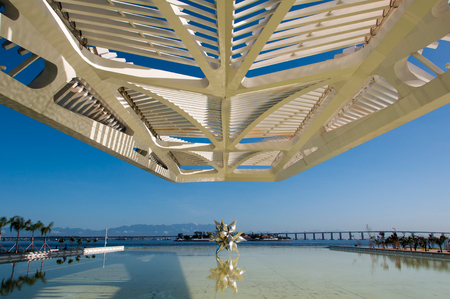 Rio de Janeiro, Brazil - June 1, 2016: Museum of Tomorrow, designed by Spanish architect Santiago Calatrava, in Maua square. Editorial