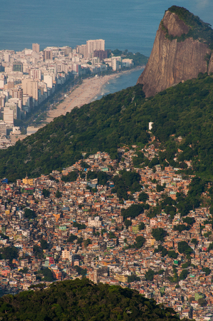 Biggest Slum in South America, Favela da Rocinha, in Rio de Janeiro, Brazil Editorial