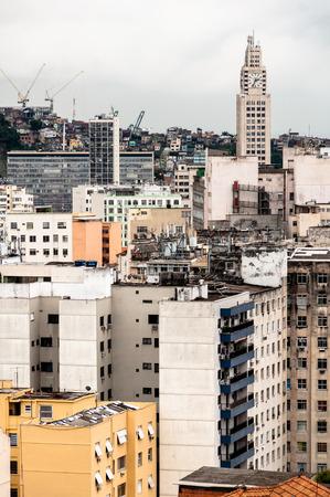 Old Residential Buildings in Rio de Janeiro City Center Editorial