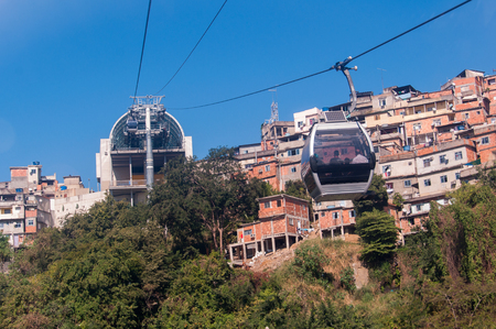 Cable Car to the Slum on the Mountain
