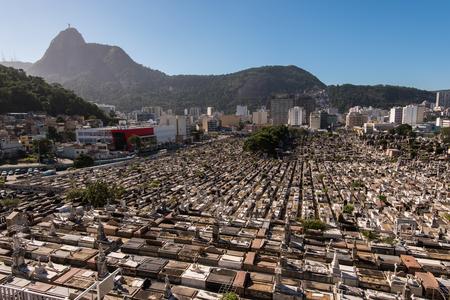 Saint John the Baptist (Sao Joao Batista) Cemetery in Rio de Janeiro, Brazil Editorial
