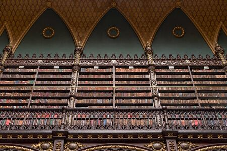 Beautifully detailed interior of the Royal Portuguese Cabinet of Reading