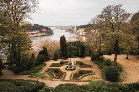 Crystal Palace Gardens in Porto at Autumn