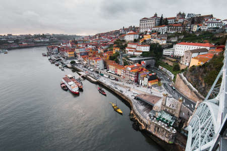 View to Porto Historical Center From the Dom Luis I Bridge