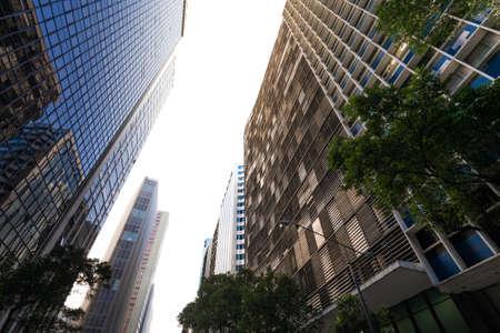 Modern Business Skyscrapers of Rio Branco Avenue in Rio de Janeiro City Downtown