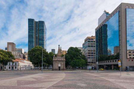 Empty November XV Square in Rio de Janeiro City Downtown