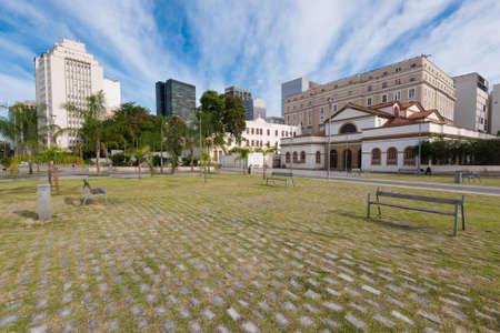 Empty Square in Rio de Janeiro Downtown Редакционное
