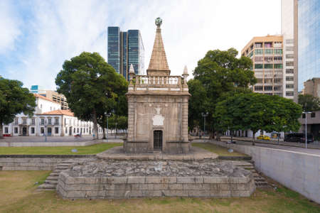 Ancient Fountain in Downtown of Rio de Janeiro City