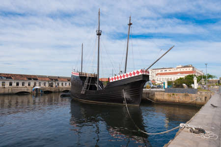 Replica of Boat Used For Discovery of Brazil