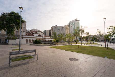 Empty Square in Rio de Janeiro Downtown Фото со стока - 153147843