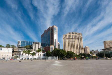 Empty Maua Square in Rio de Janeiro City Downtown Фото со стока - 153147851