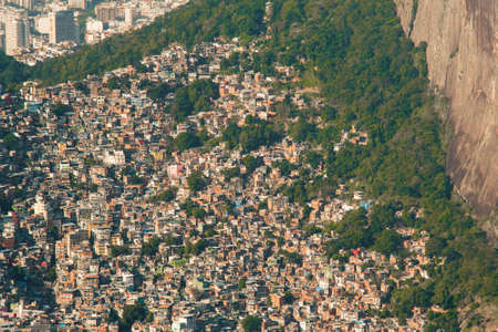 Aerial View of Favela Rocinha in Rio de Janeiro, Which Has 100,000 Inhabintants and is the Largest in Brazil Фото со стока - 154020633