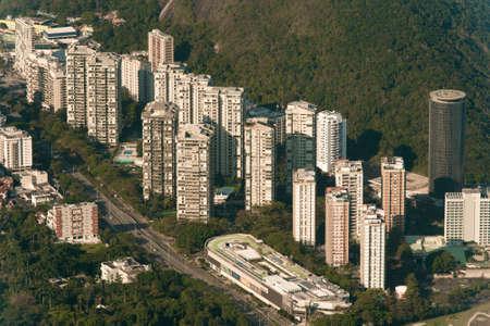 Aerial View of Residential Condo Apartment Buildings in Rio de Janeiro, Brazil
