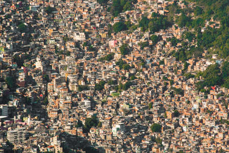 Aerial View of Favela Rocinha in Rio de Janeiro, Which Has 100,000 Inhabintants and is the Largest in Brazil