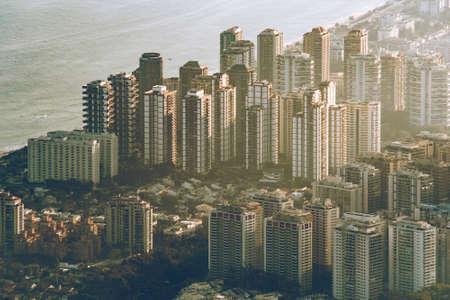 Aerial View of Condo Apartment Buildings Near the Beach in Barra da Tijuca District in Rio de Janeiro, Brazil