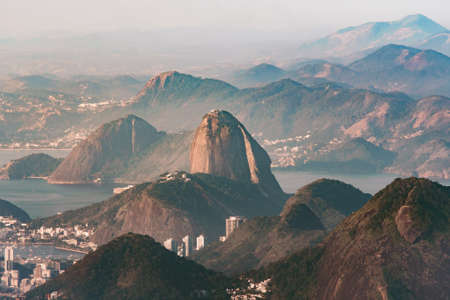 Hills of Rio de Janeiro With the Sugarloaf Mountain Between Them Фото со стока - 154020898