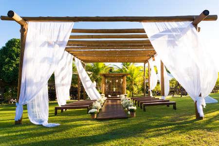 Beautiful Brazilian Style Outdoor Wedding Ceremony Set Up