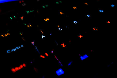 Black Computer Keyboard With Led Lights