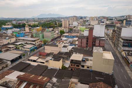 Rio de Janeiro, Brazil - January 31, 2021: Aerial view of Duque de Caxias city, which is a part of Greater Rio de Janeiro or Metropolitan Region. Редакционное
