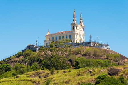 Penha Church on Top of the Mountain in Rio de Janeiro, Brazil