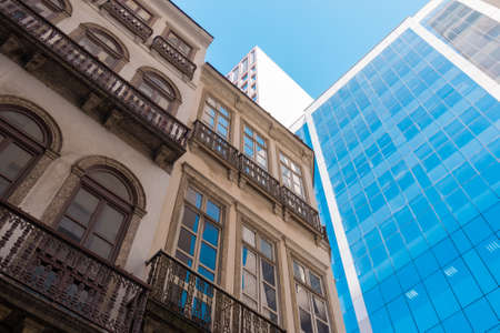 Mix of Old and New Architecture Buildings in Rio de Janeiro City