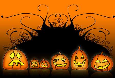 halloween cartoon back photo