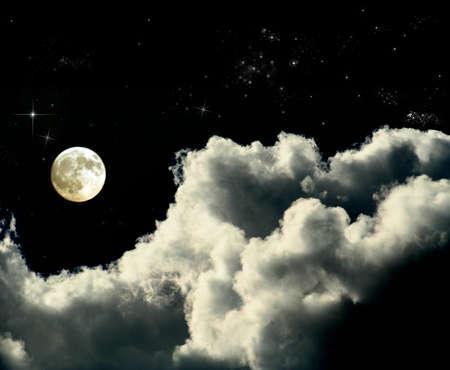 moon and stars: full moon night