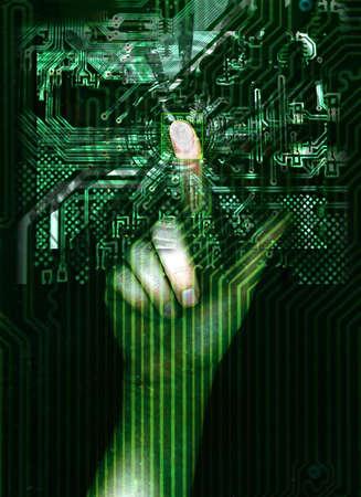 safe internet access with fingerprint photo