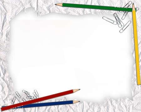 attache: paper school frame Stock Photo