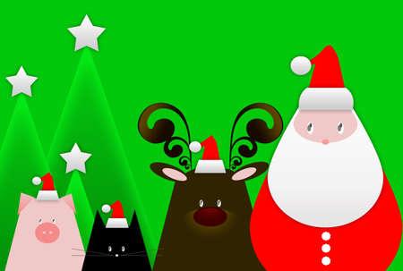 christmas motif: christmas card: santa is coming Stock Photo