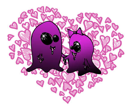 scary story: valentine day tender monster couple