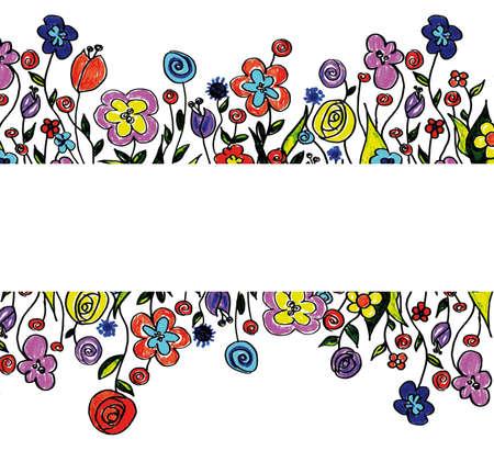 naif: spring flower border