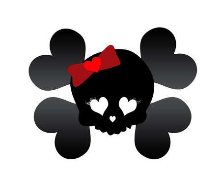 cute skull: cute skull pirate motif