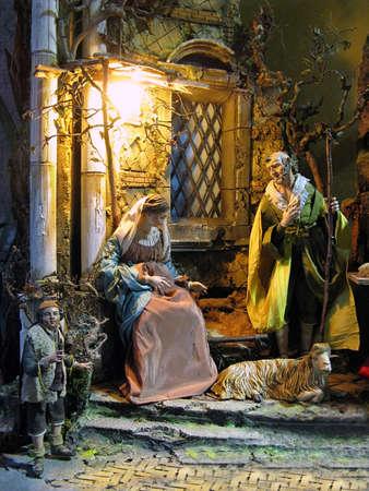 Artistic Nativity Scene crib photo