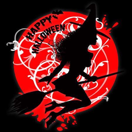 witch female silhouette photo