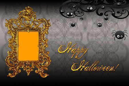 ecard: stylish cool happy halloween card or ecard Stock Photo