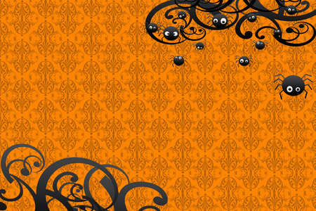 ecard: Happy Hallowen card Stock Photo