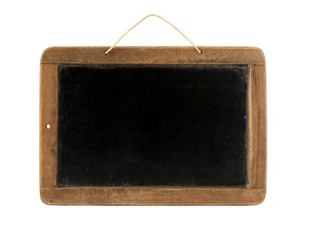 Old Time Slate Writing Tablet isolated on white photo
