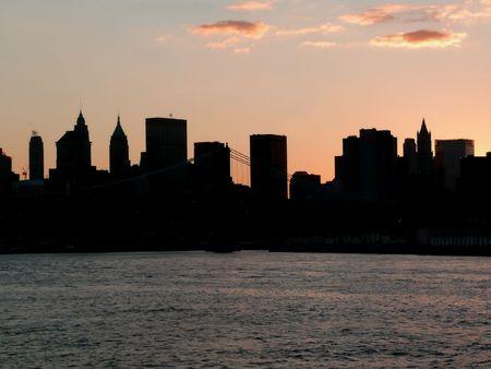 New York - Manhattan au coucher du soleil