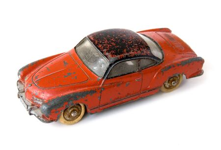 rusty car: Old rusty car toy Stock Photo